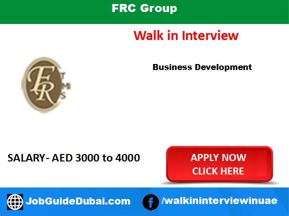 FRC Group career business development executive job in Dubai