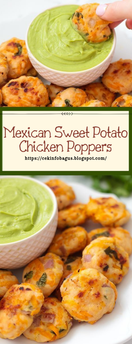 Mexican Sweet Potato Chicken Poppers #healthyfood #dietketo #breakfast #food