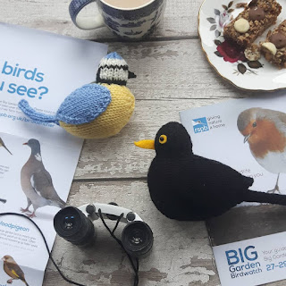Blue tit and blackbird knitting patterns