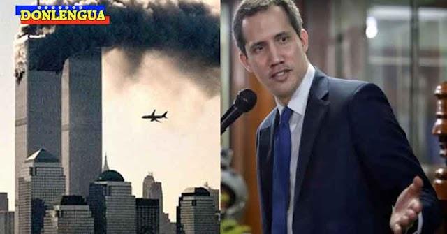 Juan Guaidó rezando por las víctimas de los atentados del 11 de Septiembre en Estados Unidos