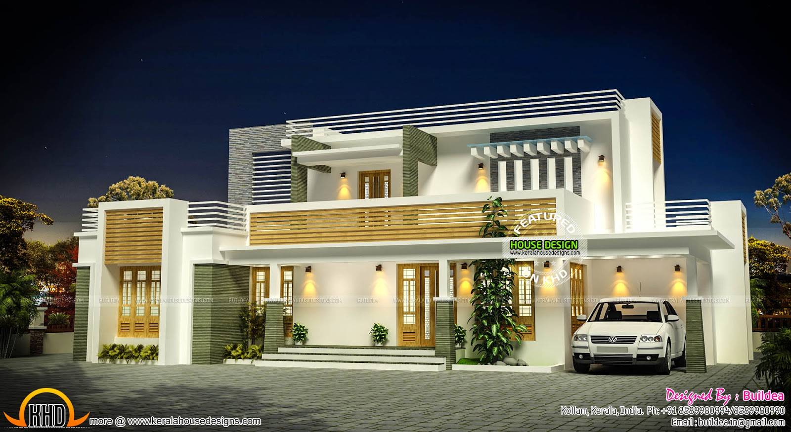 French Country House Plans One Story Flat Roof Contemporary Home Exterior Plan Kerala Home