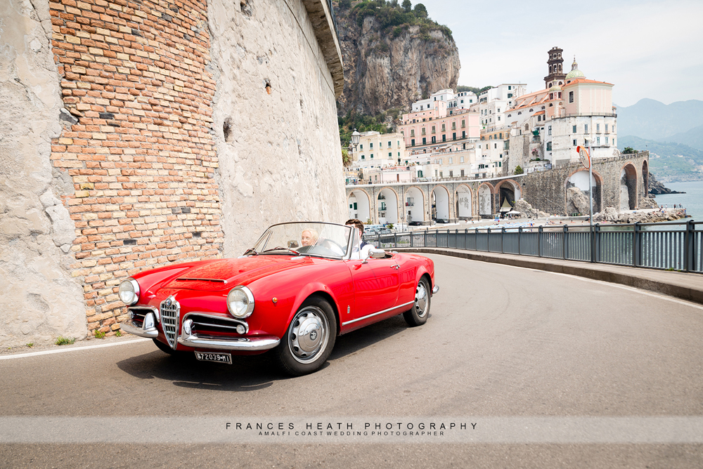 Vintage car in Amalfi