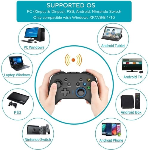Review Forty4 Dual-Vibration Wireless Gaming Controller