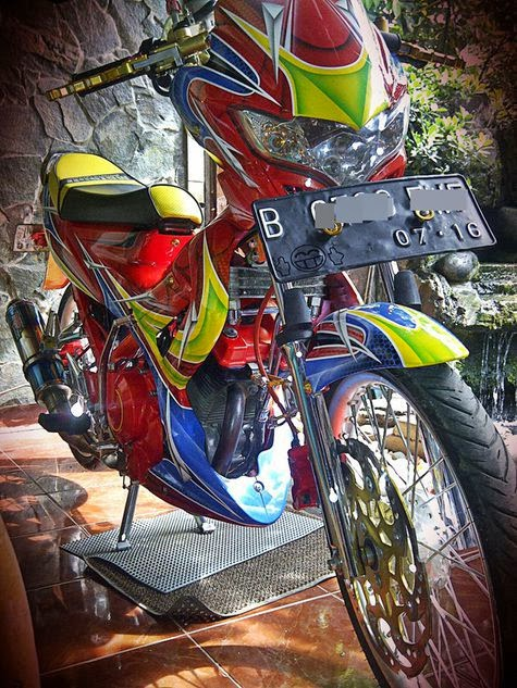 MODIFICATION SUZUKI SATRIA FU FULL AIRBRUSH