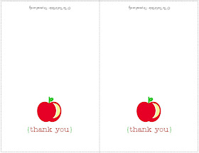 picture regarding Thank You Cards for Teachers Printable identified as The TomKat Studio: Back again in direction of University: Do-it-yourself Printable Thank On your own