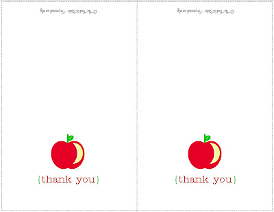Back to School DIY Printable Thank You Cards ~ Perfect for Teachers - printable thank you note