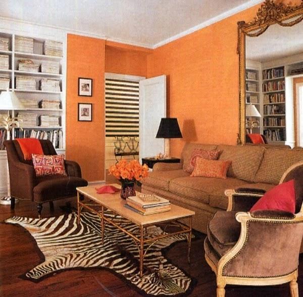 sala marrón naranja