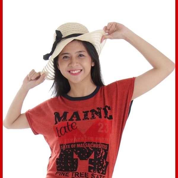 ADR088 Kaos Wanita Terracotta Rajut Maine Import BMG