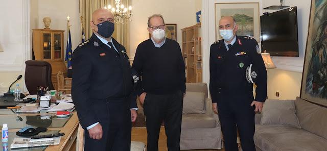 Επίσκεψη του Αστυνομικού Διευθυντή Αρκαδίας στον Περιφερειάρχη Πελοποννήσου