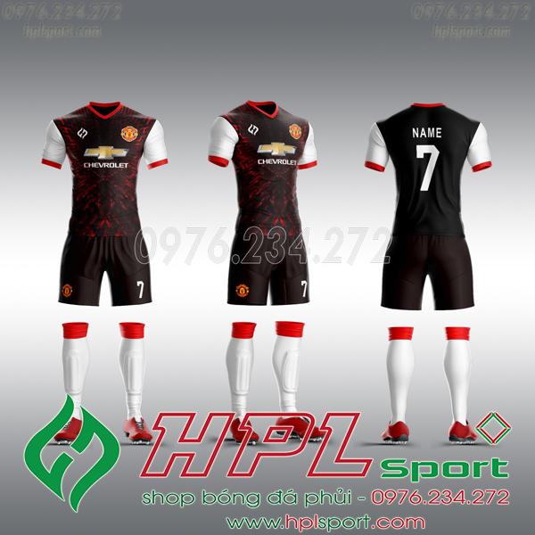 Mẫu áo câu lạc bộ tự thiết kế MU đen