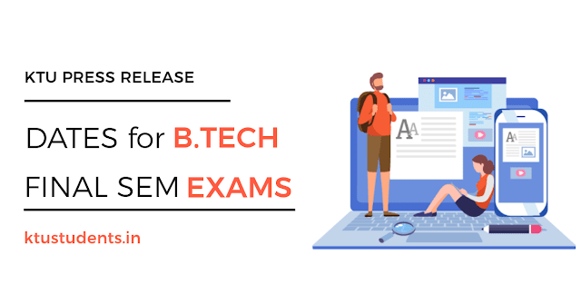 B.Tech eighth semester regular and supplementary exams from July 1