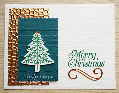 Heart's Delight Cards, Perfectly Plaid, Christmas Card, 2019 Holiday Catalog, Stampin' Up!