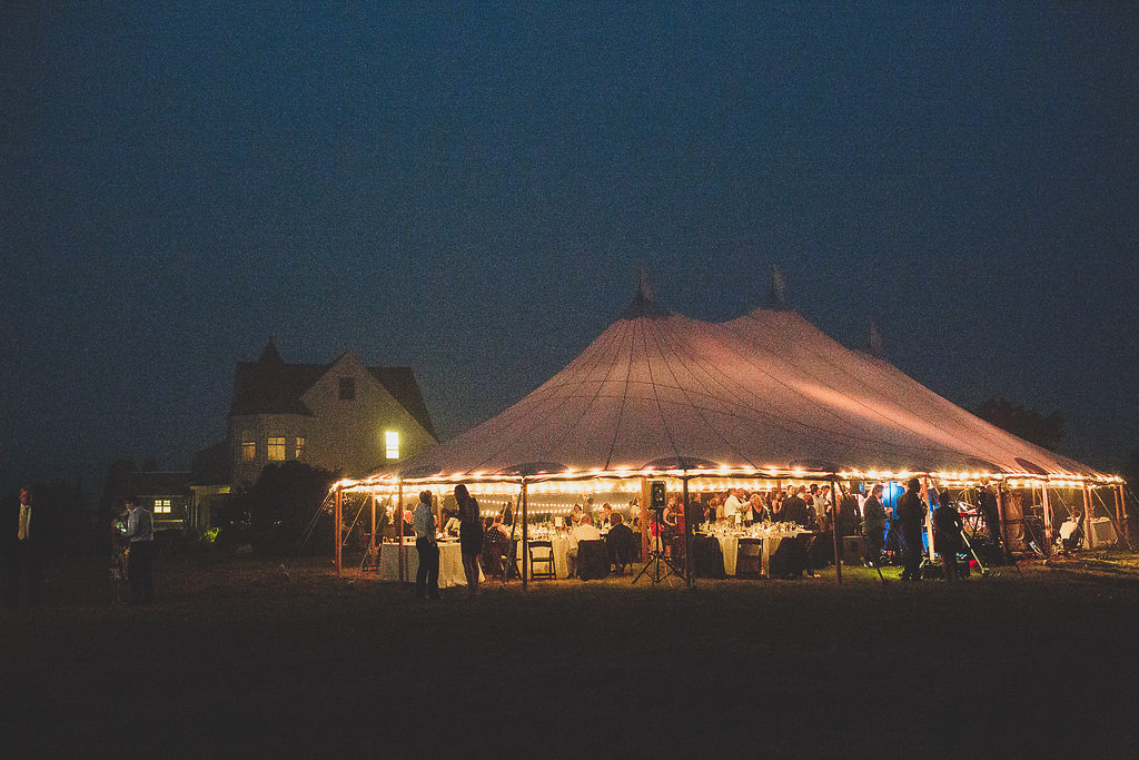 Big Sky Tent Rental Chilmark Martha's Vineyard wedding reception | cassiecastellaw.com
