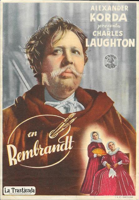 Rembrandt - Programa de Cine - Charles Laughton - Elsa Lanchester
