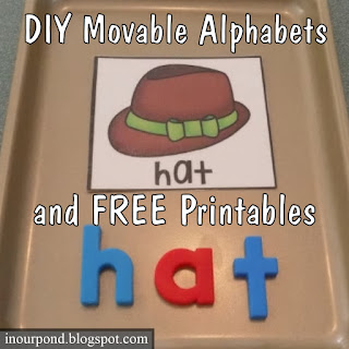 DIY Movable Alphabet Ideas + Free Printables from In Our Pond