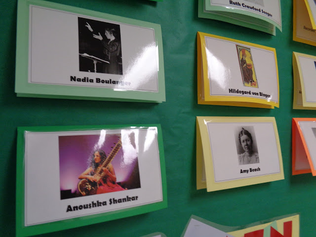 Women's history month music bulletin board female composers performers