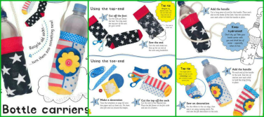 lets sew bottle carrier instructions collage
