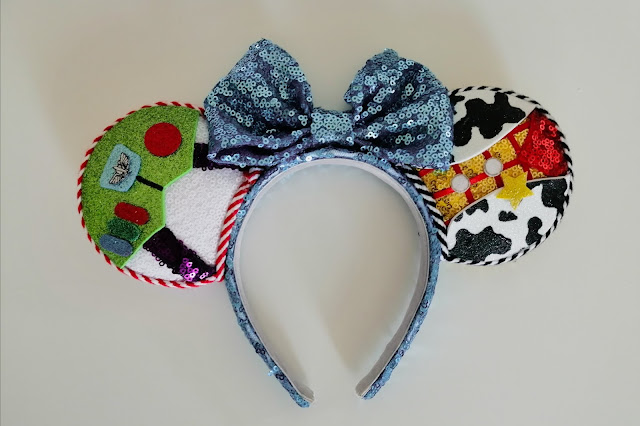 Buzz and Woody Toy Story ears from Sparkles in the Castle