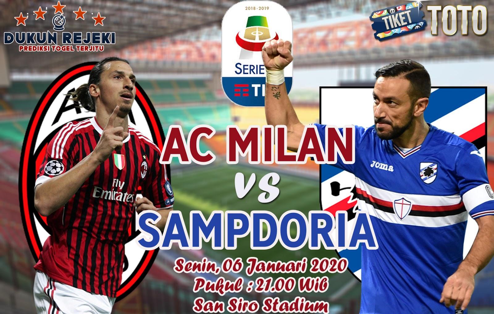 Prediksi AC Milan vs Sampdoria 06 Januari 2019