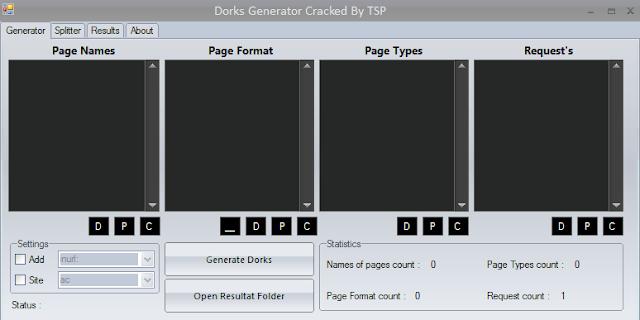 TSP Dork generator v11 0 New 2019