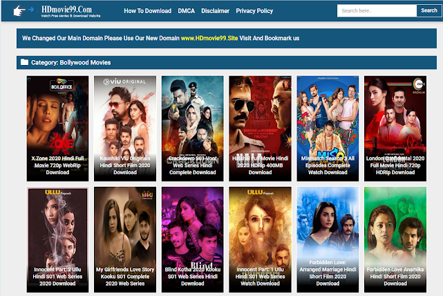 HDMovie99 2020: HDMovie99 Illegal 300MB Movies 480p Movies, Dual Audio Movie Download, Latest Movie News on HDMovie99 Website
