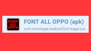 FONT ALL OPPO (Download)