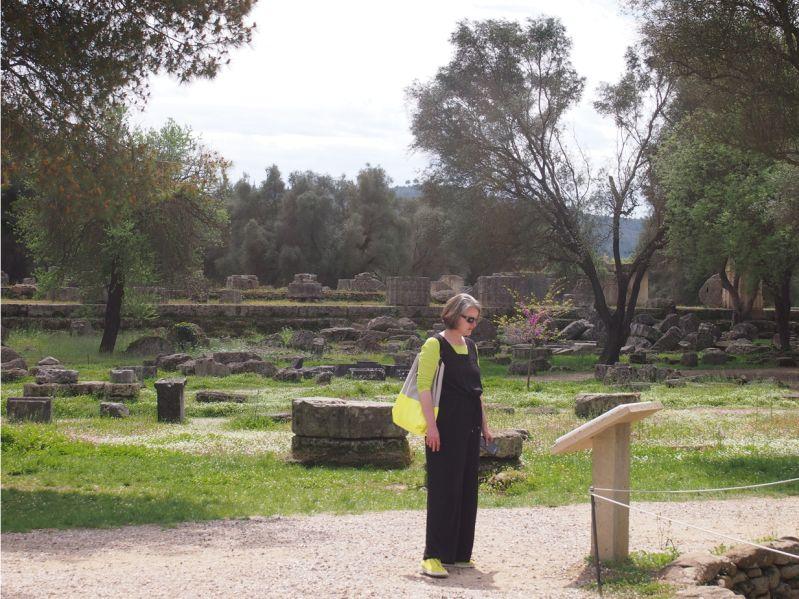 Blick auf den Zeustempel Olympia