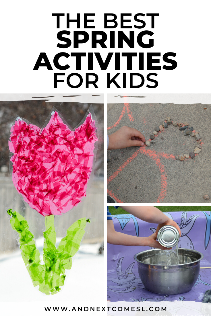 Summer activities for kids - lots of great ideas for toddlers and preschoolers to do during the Spring and Summer months