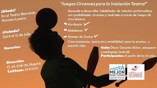 """TALLER Intensivo """"Juegos Circenses para la Iniciación Teatral"""""""