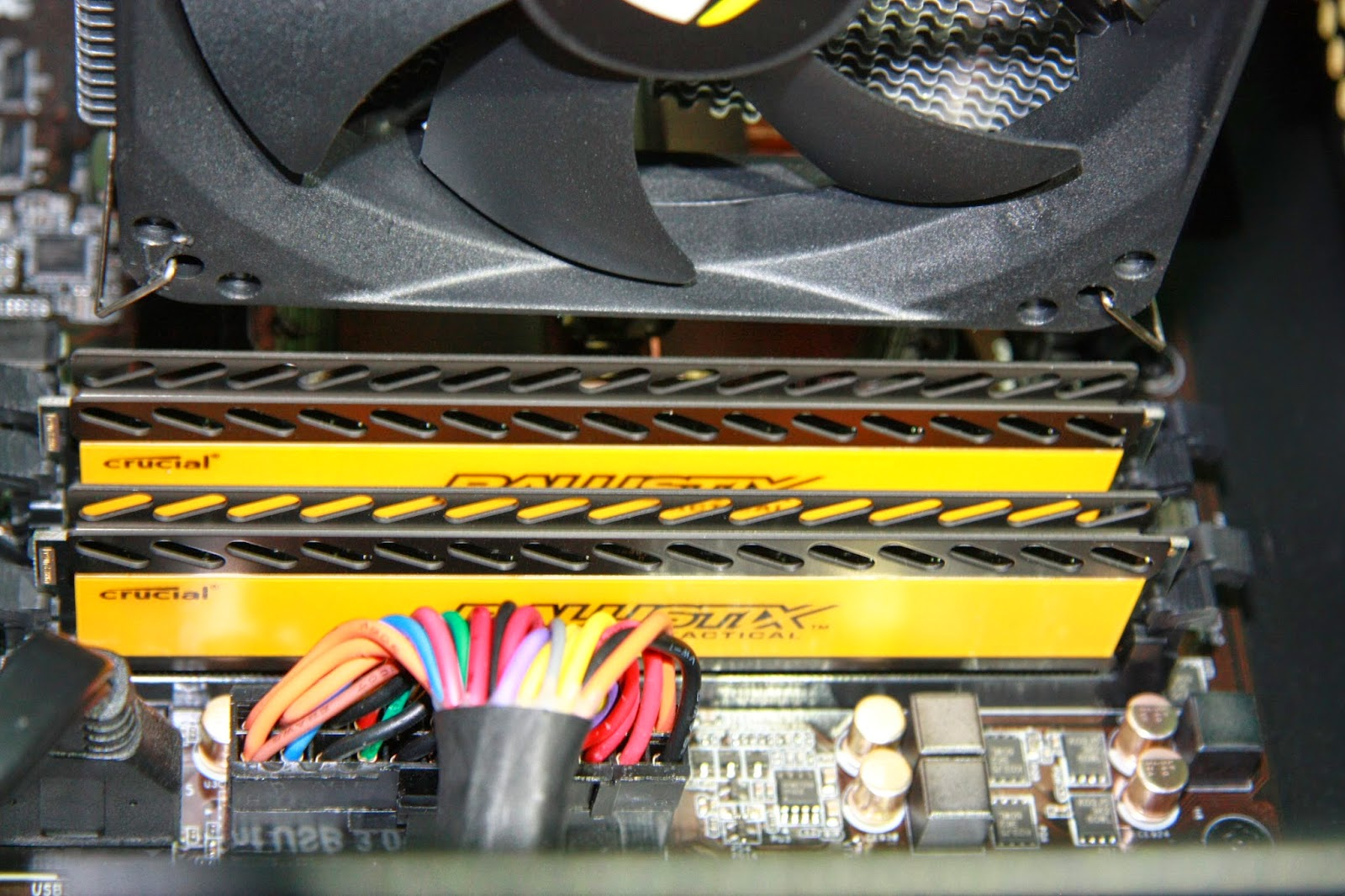 Dołożone kości RAM w bankach drugim i czwartym