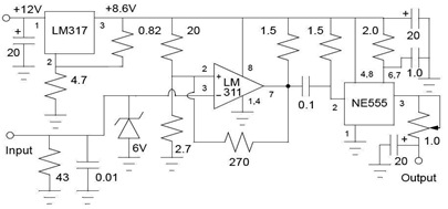 Circuit-of-the-tachometer