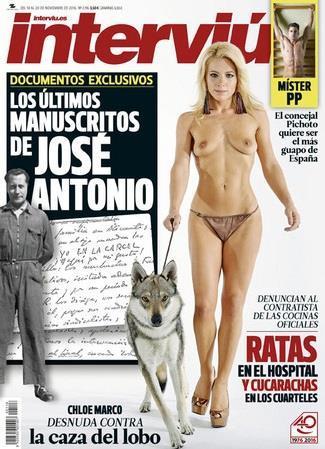 Interviú Edición 2116 Chloe Marco Desnuda Contra La Caza Del Lobo