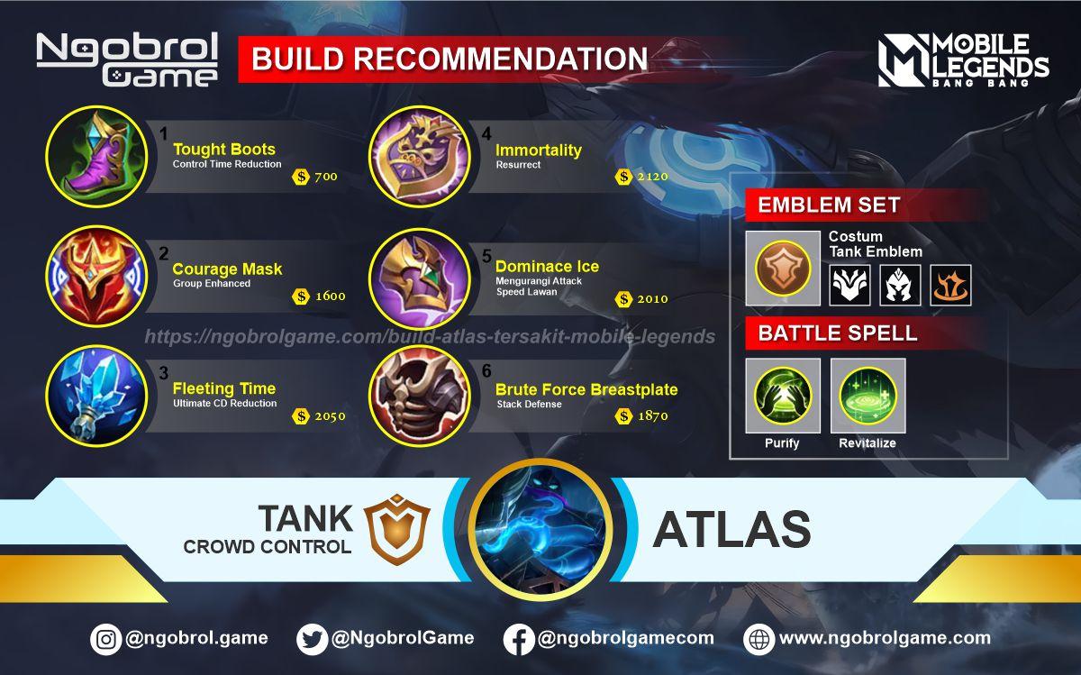 Build Atlas Top Global Tersakit Mobile Legends
