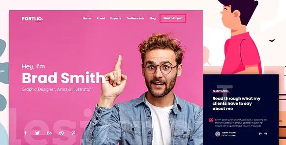Portfolio HTML Landing Page Template