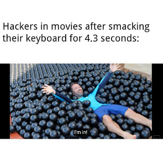 Hacking in Movies Meme by @linuxtechtips on ig