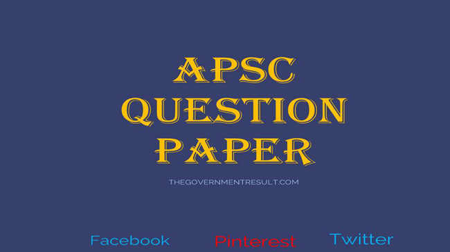 APSC question paper for optional subject