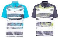 Oakley Men's Aero Stripe Mashie Polo Athletic Casual Golf Short Sleeve Tee Shirt