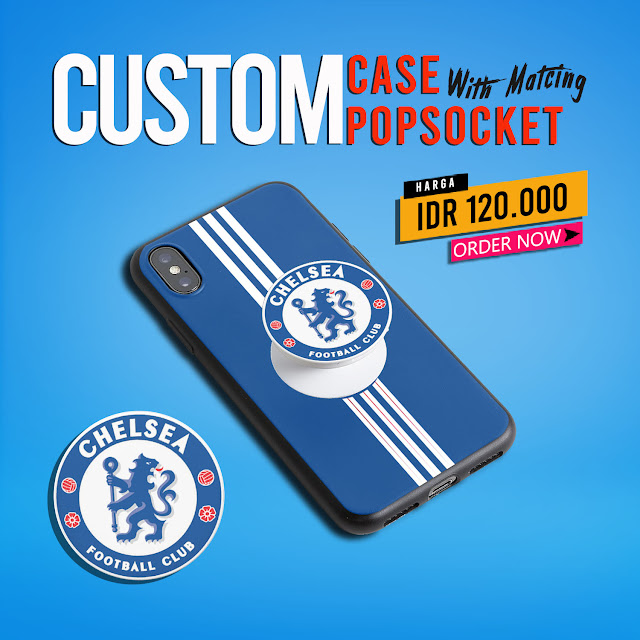 Desain Banner Promo Black Matte Case iPhone X with Matching PopSockets