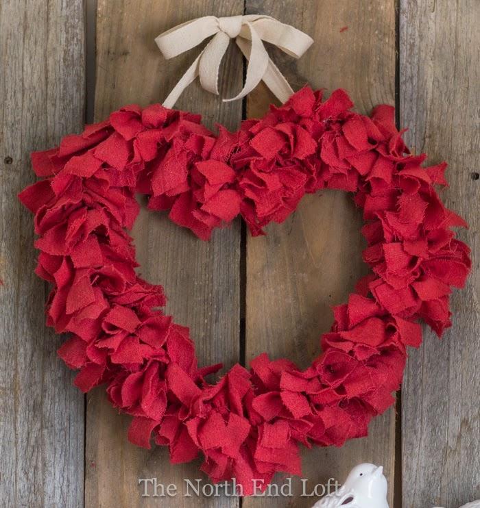 The North End Loft Valentine S Day Rag Wreath