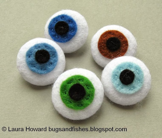 Felt eyeball buttons