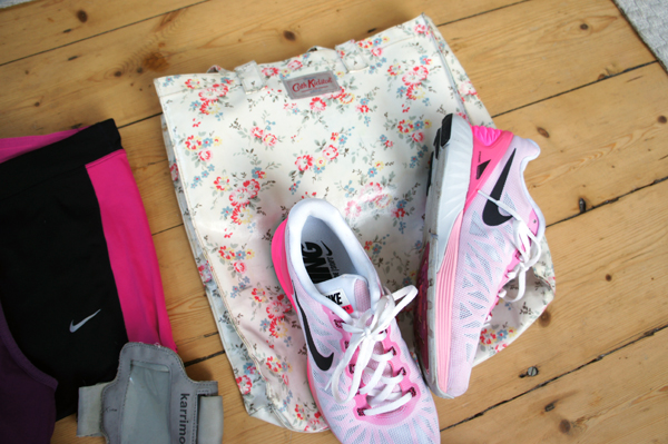 Cath Kidston bag and Nike trainers