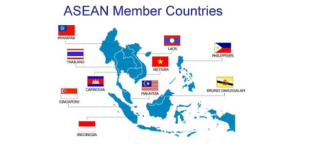 Letak Koordinat ke 11 Negara ASEAN