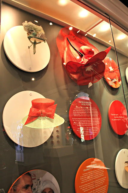Derby hats on display at the Kentucky Derby Museum