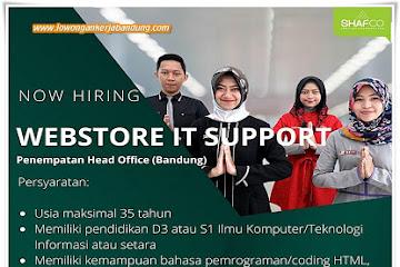 Lowongan Kerja Bandung Webstore IT Support