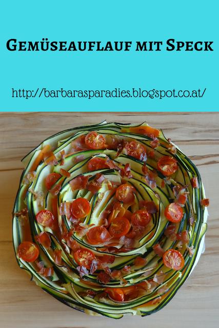 Gemüseauflauf mit Speck