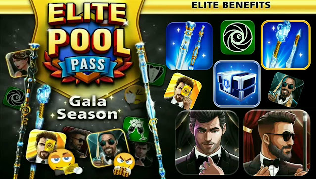 Gala Season 8 ball pool Free pool pass