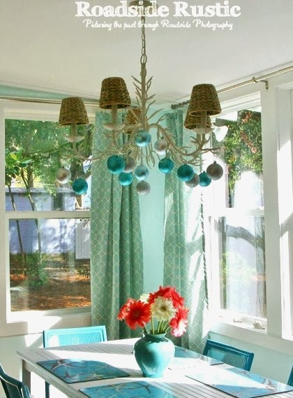 Christmas cottage chandelier