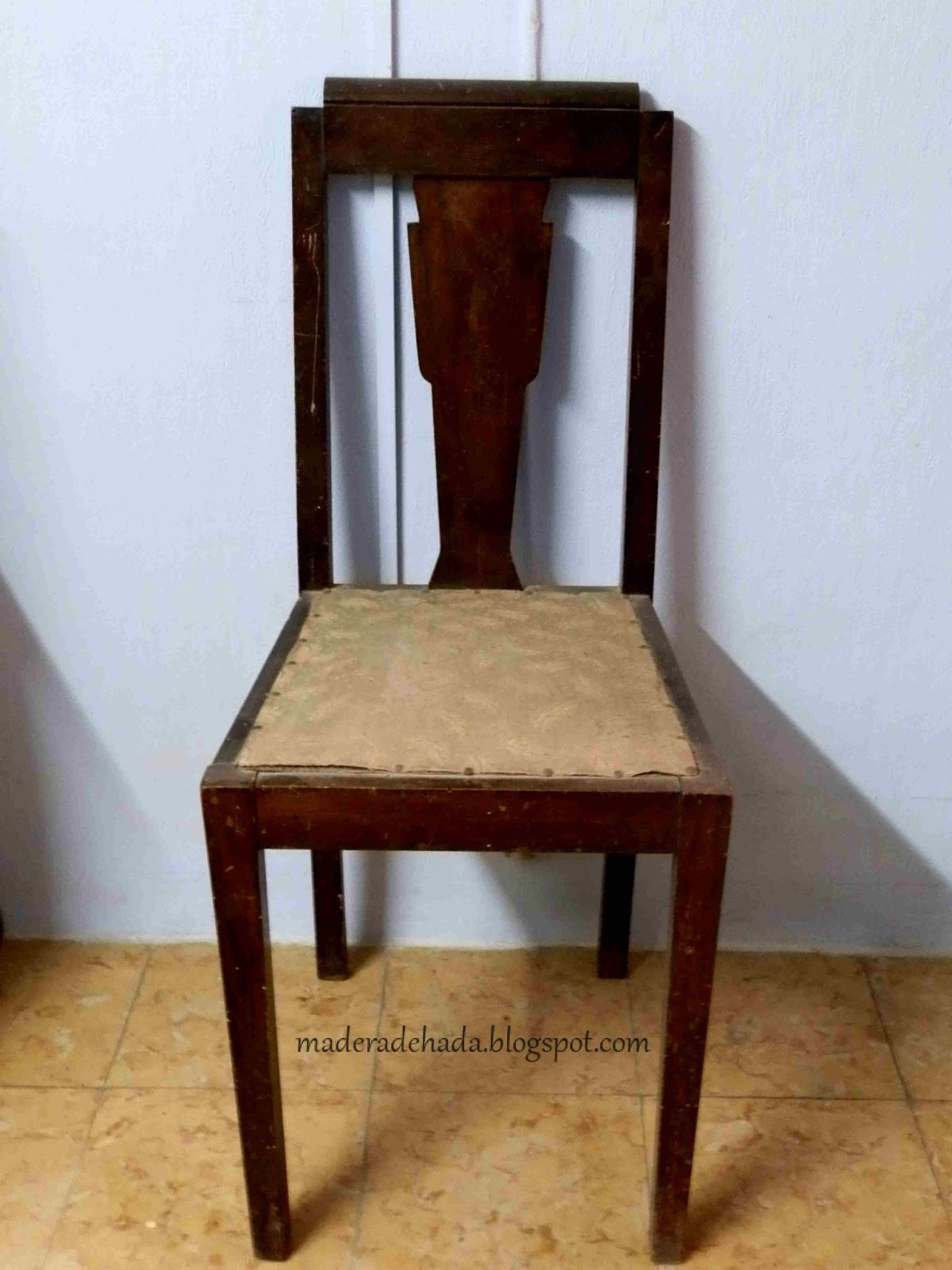 Silla de estilo art d co madera de hada for Sillas de estilo