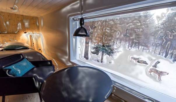 In the Jarvzoo Wolf hotel, your nearest partners will be wolves. The hotel was formed inner side of wolf enclosure with full wall windows, which enables you to watch and hear the wolves' howling. Watching and hearing wolves with so close to your eyes will surely be a fantastic venture for you and your children.  There are 5 rooms in the hotel, sauna, and toilets and nearby tavern. You will also be able to see the zoo animals like reindeers, wolverines, arctic foxes and brown bears free of cost.