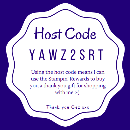 Nigezza Creates with Stampin' Up! May 2020 Host code.